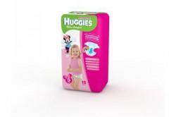 Подгузники для девочек, Хаггис ультра комфорт конвениенс №15 12-22 кг