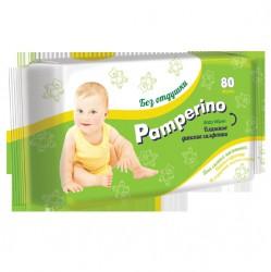 Салфетки влажные детские, Памперино без отдушки №80