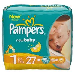 Подгузники, Памперс Нью беби-драй ньюборн №27 2-5 кг