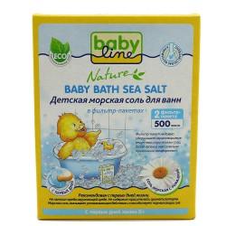 Соль морская для ванн, Бэбилайн Нейче ромашка 500 г