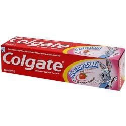 Зубная паста для детей, Колгейт доктор заяц вкус клубники 50 мл