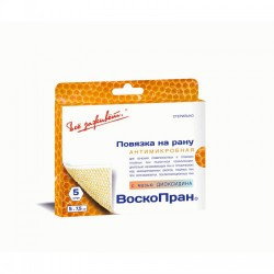 Повязка раневая, Воскопран р. 5смх7.5см №5 Дд с мазью диоксидина 5%
