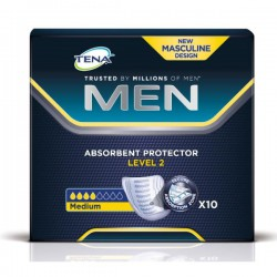 Прокладки при недержании для мужчин, Тена №10 Мен левел 2